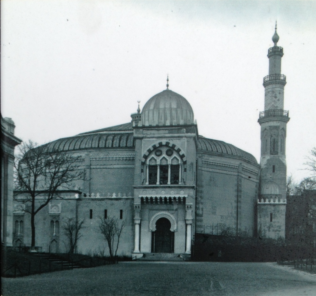 Old photo of the Great Mosque of Brussels