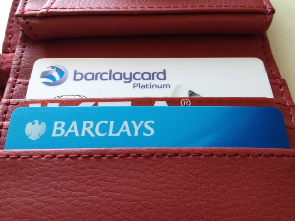 The new barclaycard, snug in my wallet