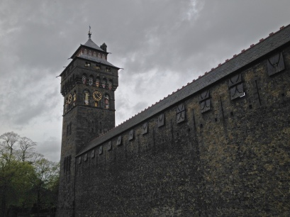 Cardiff castle wall