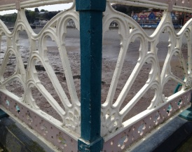Railing at Penarth pier