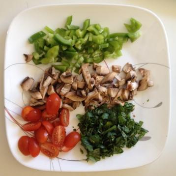 Chopping veggies ...