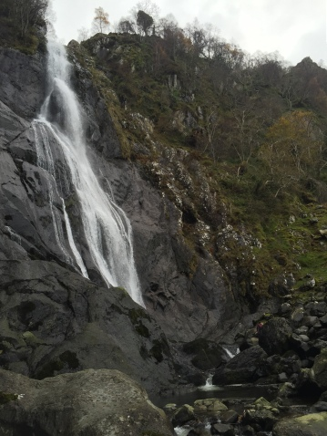 Close up in front of Aber Falls