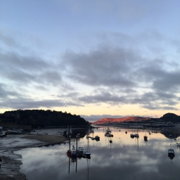 Sunset over River Conwy