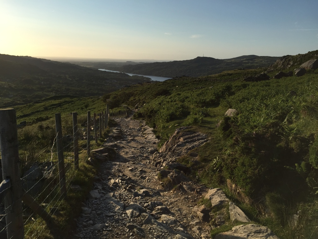 Coming down the Llanberis Path near sunset